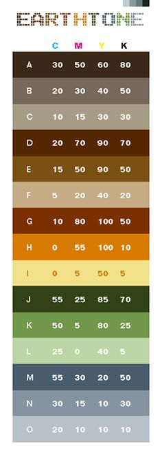 Cmyk Color Guide  Collor Pallets    Colors And Products