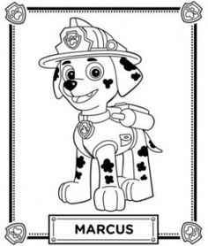 coloriage pat patrouille marcus