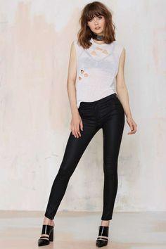 RES Denim Trashqueen Skinny Jean - Matte Black - Sale: Newly Added | Denim | Denim | All Vintage Tees + Denim | Skinny