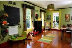 playroom - live the green walls