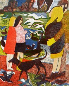 For Arts Sake | Print Making : 'The Serpentine' by Rupert Shephard, 1972 (linocut)