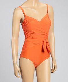 Orange Wrap One-Piece #zulily #ad *classic