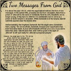 Two Messages From God(Luke 1:13-17)