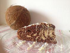 Zebra cake chocolat noix de coco - Tizi Cooks