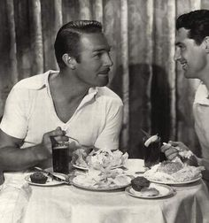 Photo of Randolph Scott and Cary Grant from the October 1933 issue of Modern Screen. Scott and Grant shared a house in Hollywood during the early years of their film work. Old Hollywood Actors, Vintage Hollywood, Hollywood Stars, Classic Hollywood, Hollywood Glamour, Cary Grant Randolph Scott, Divas, Film Icon, Actrices Hollywood