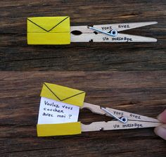 Clever clothespin crafts - note