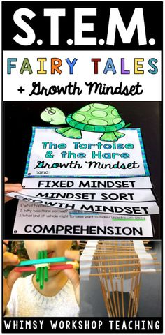 Add Growth Mindset to your fairy tale STEM projects for success!