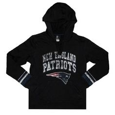 Official New England Patriots ProShop - Ladies VF Preseason Hood-Black