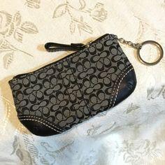 5b94aa992aa2 Black Soho Coin Purse Keychain Wallet
