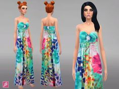 Alexandra Simblr: Maxi Dress Collection • Sims 4 Downloads