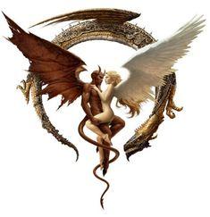 Dr Tattoo, Yin Yang Art, Yin Yang Tattoos, Fairy Drawings, Dragon Sketch, Cartoon Quotes, Elvish, Angels And Demons, Tattoo Designs