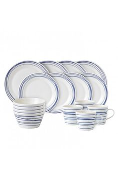 The Royal Doulton Pacific 16 Piece Lines Dinnerware Set boasts porcelain construction, giving it a dose of timeless appeal. Each piece in this dinnerware. Yellow Dinnerware, Modern Dinnerware, Dinnerware Sets, Royal Doulton, Decorative Lines, Dinner Sets, White Porcelain, Dinner Plates, Stoneware