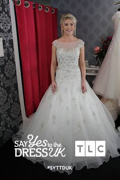 Make a statement with this chic neckline.  'Like' if you'd say Yes to this dress! Say Yes To the Dress UK on TLC! #SYTTDUK