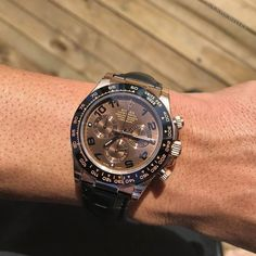 Morning Wood Chocolate Daytona on Leather $20500 Unworn except the time on this picture Serious inquires call or email Fine Watches, Cool Watches, Rolex Watches, Rolex Daytona Watch, Morning Wood, Omega Watch, Badass, Gadgets, Album