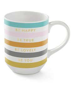 Loving this 'Be Happy' Porcelain Mug on #zulily! #zulilyfinds