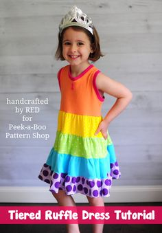 Tiered Ruffle Dress. #PeekabooPatternShop
