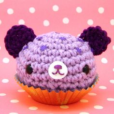 Amigurumi Grape Cupcake bear by Amigurumi Kingdom, via Flickr