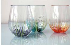 Como decorar vasos de vidro de forma simples