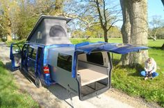 T5 Doubleback: 4 or 5 seater from Danbury campervans, caravans, and trailers.