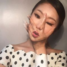 Оптические иллюзии на собственном лице