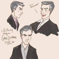 {Disney!lock - Greg Lestrade by ~lexieken on deviantART} More Disney!lock. I would LOVE to see this actually happen.
