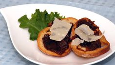 Crostini with Onion Confit and Petit Basque Cheese