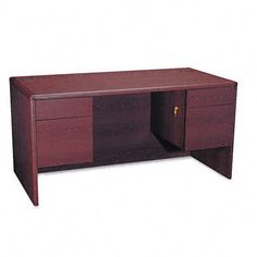 Hon Desk 10771NN 10700 60 by 30 by 29-1/2-Inch with 3/4 Double Pedestals