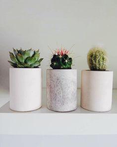 Set of 3 Mini Pots Auckland, Planter Pots, Mini, Plant Pots