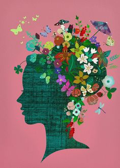Art Print  flowerhead by sevenstar on Etsy,