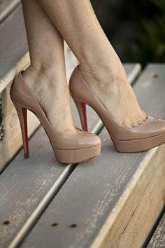Christian Louboutin Bianca 140mm Platforms Nude CAY #CL #ChristianLouboutin