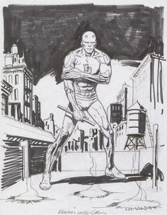 Nowlan - Daredevil commission (& prelims), in Simon M.'s Daredevil art :: Comic Art Gallery Room