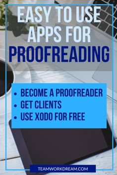 How To Make Proofreading And Editing Easier With The Xodo And Grammarly Apps - Teamwork Dream Editing Writing, Writing A Book, Writing Tips, Online Earning, Earn Money Online, Earn Money From Home, Way To Make Money, Proofreader, English Writing