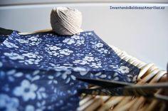 Cortar trozos de servilletas para decorar