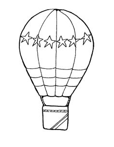 hot air balloon coloring pages - Free Large Images