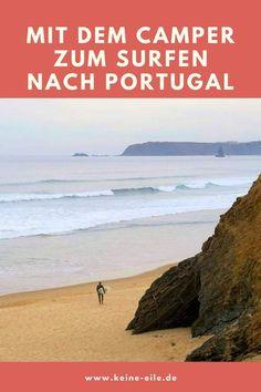 """Surfen in Portugal: In diesem Interview gibt es viele Tipps und Inspiration vom """"Surfnomaden"""" Julian für eine Reise mit dem Wohnmobil nach Portugal. Interview, Beach, Water, Inspiration, Outdoor, Overwintering, Campsite, Rv, Viajes"""