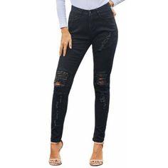 8//10//12//14 Femme effiloché denim shorts avec clous demi-pantalon jeans