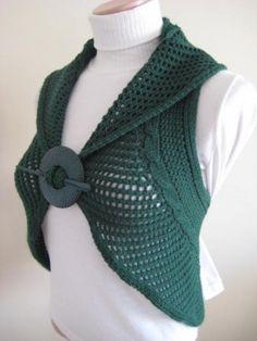 Green Knit Vest