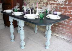Vintage Painted Drop Leaf Table - Sold www.sallywhitedesigns.com