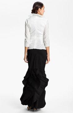 Tadashi Shoji Tier Hem Taffeta Skirt | Nordstrom