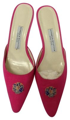 """Stubbs & Wootton & Fucsia """"greta Straw Nat"""" Sz 10.5 M Pink Mules. Get the must-have mules of this season! These Stubbs & Wootton & Fucsia """"greta Straw Nat"""" Sz 10.5 M Pink Mules are a top 10 member favorite on Tradesy. Save on yours before they're sold out!"""