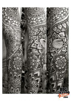 Mandala sleeve tattoo. I would never get a full sleeve but if I did it would be a lot like this.