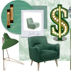 Bringing a yearly festivity in your home interior design isn't that stupid, especially not when the colours are well-toned. Just like green, for ST Patrick's Day. ⎜delightfull.eu #DelightFULL #StPatricksDay #MidCentury #UniqueLamp