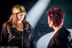 Pep talk: Things are getting serious at The X Factor rehearsals as Sharon Osbourne has a stern word with Honey G ahead of next live show Words With Honey, Saturday Night Movie, Short Hair Cuts, Short Hair Styles, Sharon Osbourne, Haircuts, Hairstyles, Pep Talks, Factors