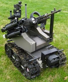 The MAARS (Modular Advanced Armed Robotic System) fitted with M240 7.62MM Machine Gun & 40MM Grenade Launcher