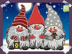 Welcome to Embroidery Xmas Pictures, Xmas Pics, Free Machine Embroidery Designs, Gnomes, Origami, Christmas Crafts, Blog, Fictional Characters, Motifs