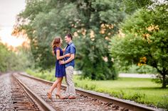 Rail Road Tracks & Open field by Onondaga Lake Park - engagement and wedding location ideas - Leo Timoshuk Photography