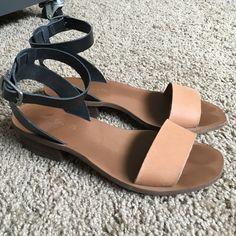 Madewell sandals Really cute leather sandals. The ankle strap doesn't have too much slack so if you have big ankles like me beware! I only wore these twice for short periods of time and decided they weren't my style but they do have light toe imprints from those wears. Madewell Shoes Sandals