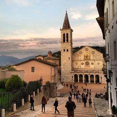 Twilight in Spoleto, Italy