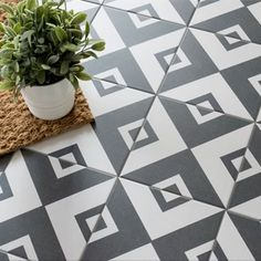 Add some Gatsby glam into your home with these Cavendish Square Tiles. They have a striking monochrome geometric pattern; perfect for a statement wall or floor. Wood Effect Tiles, Tiles Texture, Bathroom Floor Tiles, Wall And Floor Tiles, House Tiles, Kitchen Floor, Interior Design Shows, Victorian Tiles, Feature Tiles