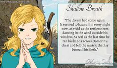 """Prompt: """"Shallow Breath."""" Read more at megancutler.net"""